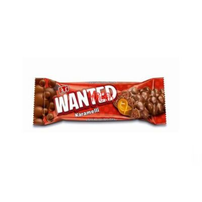 Wanted Milk Chocolate With Caramel Box , 24 pieces