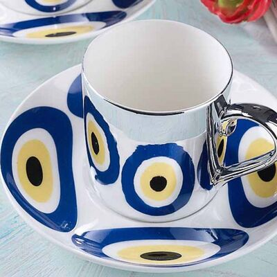 Evil Eye Reflective Cup Set, 2 pieces