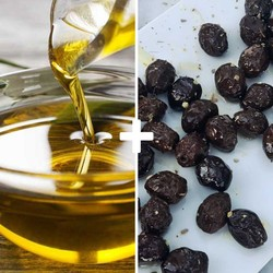 Extra-virgin Olive Oil and Black Olives - Thumbnail