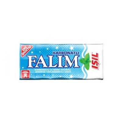 Falim Sugarless Plain Gum with Carbonat and Mint Aromatic, 5 pack