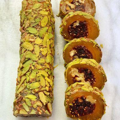 Fig Flavoured Turkish Delight With Walnut, 12oz - 350g