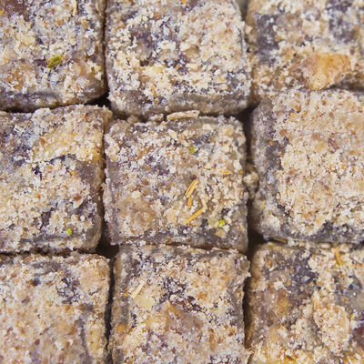 Fig Flavored Turkish Delight with Walnut , 12.35oz - 350g