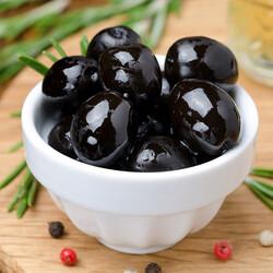 Gemlik Natural Brine Black Olive , 17.63oz - 500g - Thumbnail