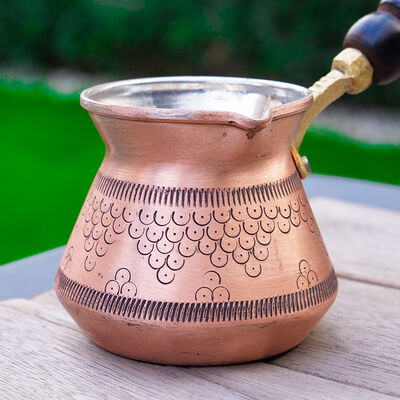 Gold Copper Coffee Pot