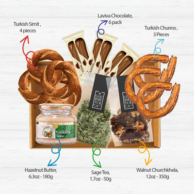 Gourmet Snacks Basket , 6 pieces