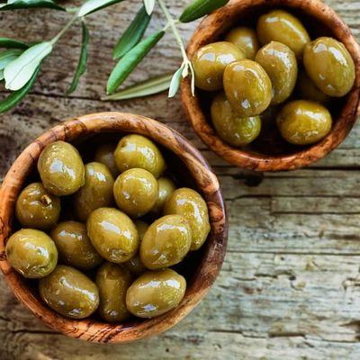 Cracked Green Olives , 13.4oz - 380g