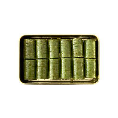 Pistachio Rolled Baklava , 12 pieces - 11oz - 310g