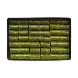 Pistachio Rolled Baklava , 42 pieces - 2.2lb - 1kg - Thumbnail