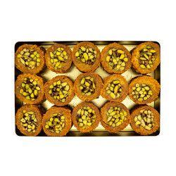 Pistachio Rolled Kadaif , 15 pieces - 2.6lb - 1.2kg - Thumbnail