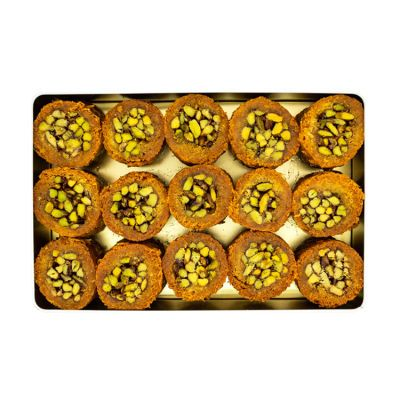 Pistachio Rolled Kadaif , 15 pieces - 2.6lb - 1.2kg