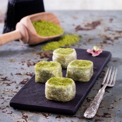 Pistachio Stuffed Baklava , 35 pieces - 2.2lb - 1kg