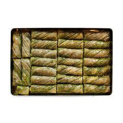 Pistachio Twisted Baklava , 25 pieces - 2.2lb - 1kg - Thumbnail