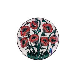 gifturca - Handmade Anemone Floral Tile Dessert Plate , 7inch 18cm