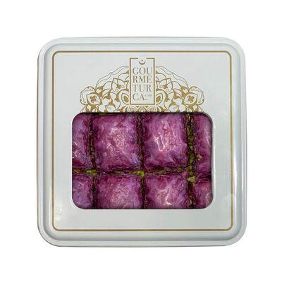 Handmade Blackberry Pistachio Baklava , 12 pieces - 1.1lb - 500g