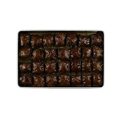 Handmade Chocolate Pistachio Baklava , 28 pieces - 2.2lb - 1Kg