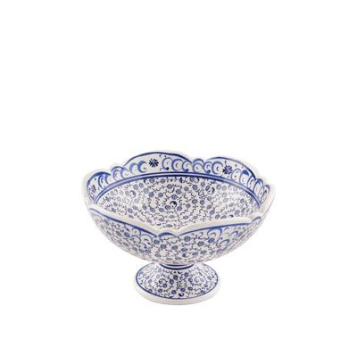Handmade Tile Centerpiece Footed Bowl , 6inch 16cm