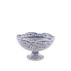 gifturca - Handmade Tile Centerpiece Footed Bowl , 6inch 16cm