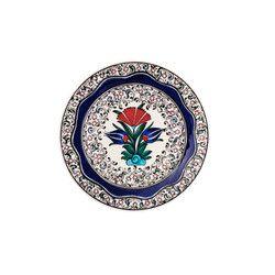gifturca - Handmade Floral Waved Tile Salad Plate , 7inch 18cm