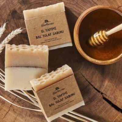 Handmade Honey Oat Soap 110g , 3 pack