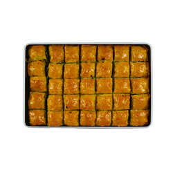 Handmade Pistachio Baklava with Olive Oil , 32 pieces - 2lb - 1kg - Thumbnail