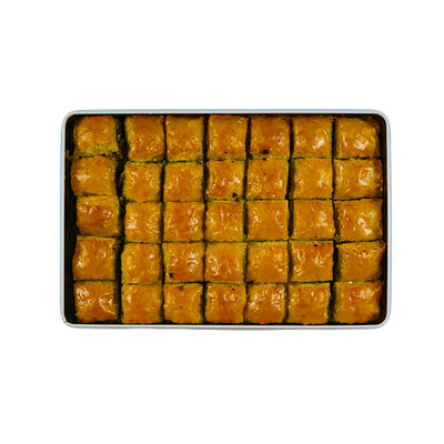 Handmade Pistachio Baklava with Olive Oil , 32 pieces - 2lb - 1kg