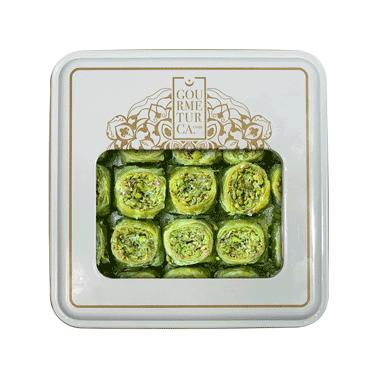 Handmade Pistachio Palace Baklava , 25 pieces - 1.2lb - 540g