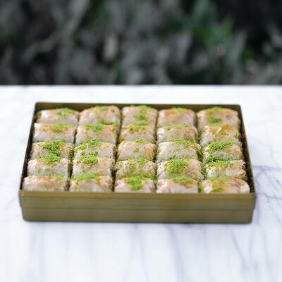 Handmade Pistachio Twisted Baklava , 2.2lb - 1kg