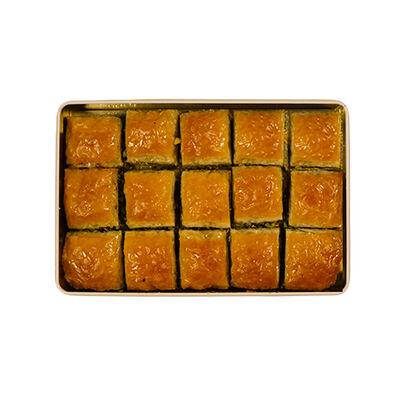 Handmade Square Pistachio Baklava , 15 pieces - 2.2lb - 1Kg