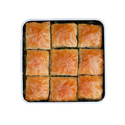 Handmade Square Pistachio Baklava , 9 pieces , 1.1lb - 500g