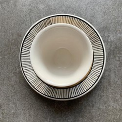 Handmade Water Patterned Coffee Cup With Saucer - Thumbnail