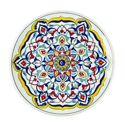 Handmade White Gourmeturca Tile Dinner Plate , 10.6 x 1.1 inch