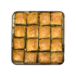 Handmade Pistachio Baklava with Olive Oil , 16 pieces - 1lb - 450g - Thumbnail