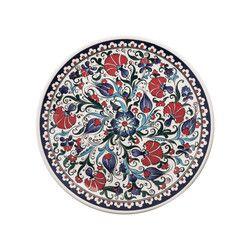gifturca - Handmade Herbal Patterned Tile Dinner Plate , 11inch 28cm