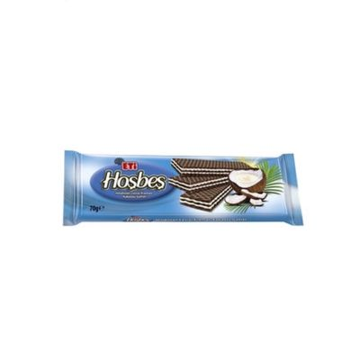 Hoşbeş Cocoa Wafer with Coconut Cream , 70g - 3 pack