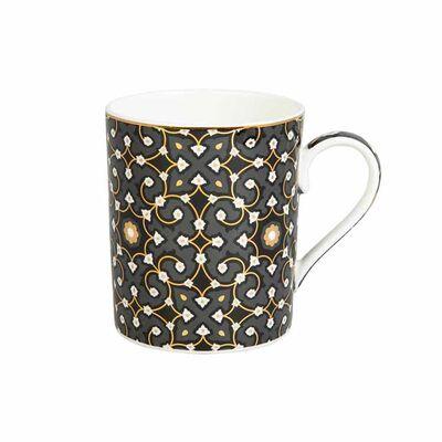 Jumbo Black Patterned Mug