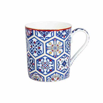 Jumbo Blue Patterned Mug