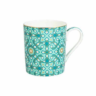 Jumbo Turquoise Patterned Mug
