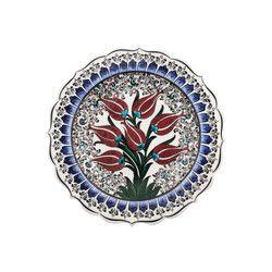 gifturca - Handmade Lalezar Tile Dinner Plate , 10inch 25cm