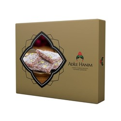 Leaf Turkish Delight with Pistachio, 500g - 17.63oz - Thumbnail
