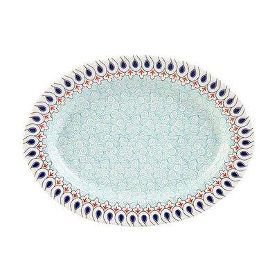 Mai Seljuq Series Oval Plate, 12.2inch - 31cm