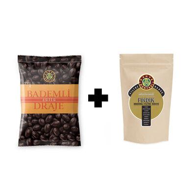 Milk Chocolate Almond Dragee - Hazelnut Flavoured Filter Coffee