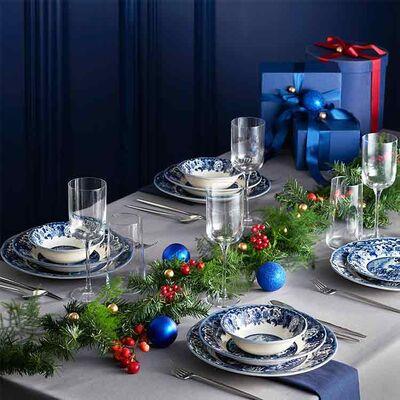 New Blue Odyssey Dinnerware Set, Service for 6