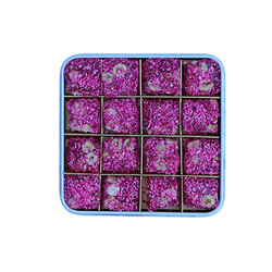 Rose Flavored Turkish Delight with Hazelnut , 16 Pieces - Thumbnail