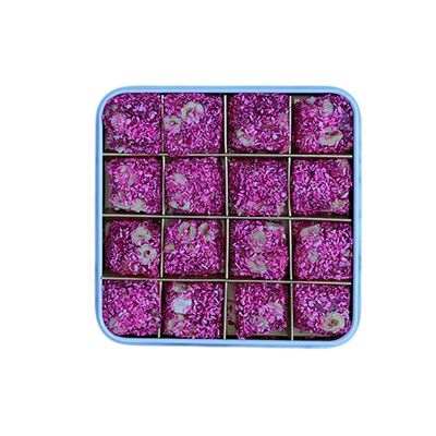 Rose Flavored Turkish Delight with Hazelnut , 16 Pieces
