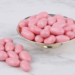 Pink Chocolate Covered Almond Dragee, 1.1lb - 500g - Thumbnail