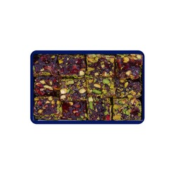 Pomegranate Flavored Turkish Delight With Pistachio , 12oz - 350g - Thumbnail