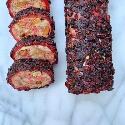 Pomegranate and Zereshk Turkish Delight With Peanut , 12oz - 350g