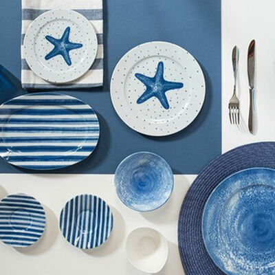 Starfish Breakfast Set , Service for 6 , 36 Pieces
