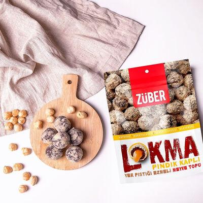 Powdered Hazelnut Coated Powdered Pistachio Flavored Lokma , 3.3oz - 96g
