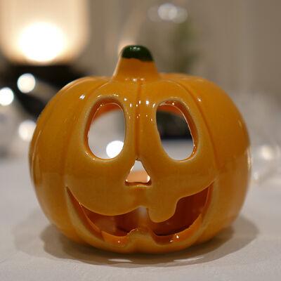 Pumpkin Candleholder , 4x4 Inches